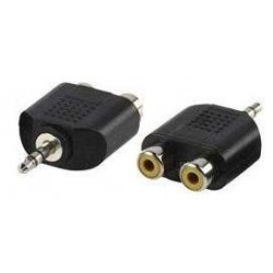 Adaptador 3.5mm a 2 RCA Hembra