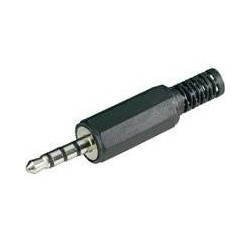 Plug 3.5mm Estéreo 4 Contactos