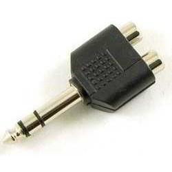 Adaptador 6.5mm estéreo a 2 RCA Hembra