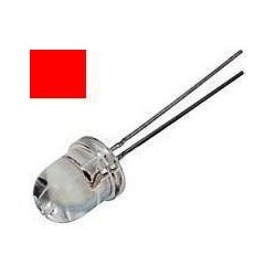 Led 10mm Rojo Alto Brillo