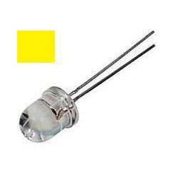 Led 10mm Amarillo Alto Brillo