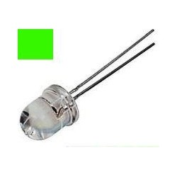 Led 10mm Verde Alto Brillo